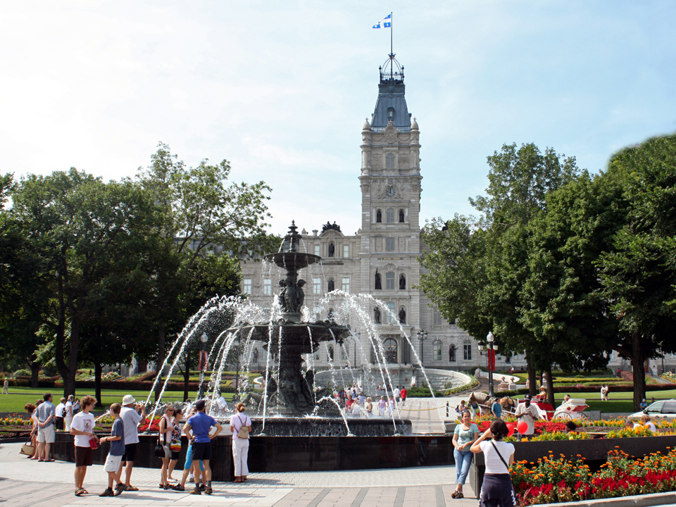 Parliament fountain in commemoration of Québec City 400th birthday celebration