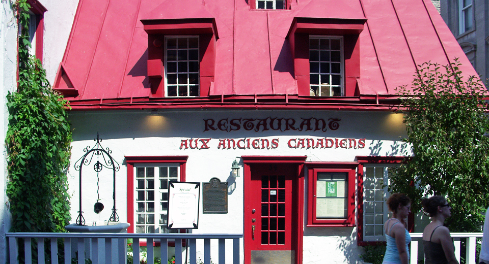 Restaurant Aux Anciens Canadians Quebec City, Canada
