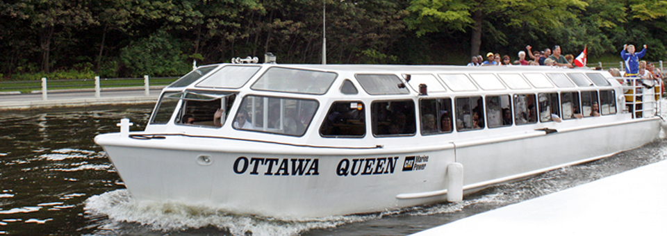 Rideau Canal cruise aboard the Paul's Boat Line's OttawaQueen
