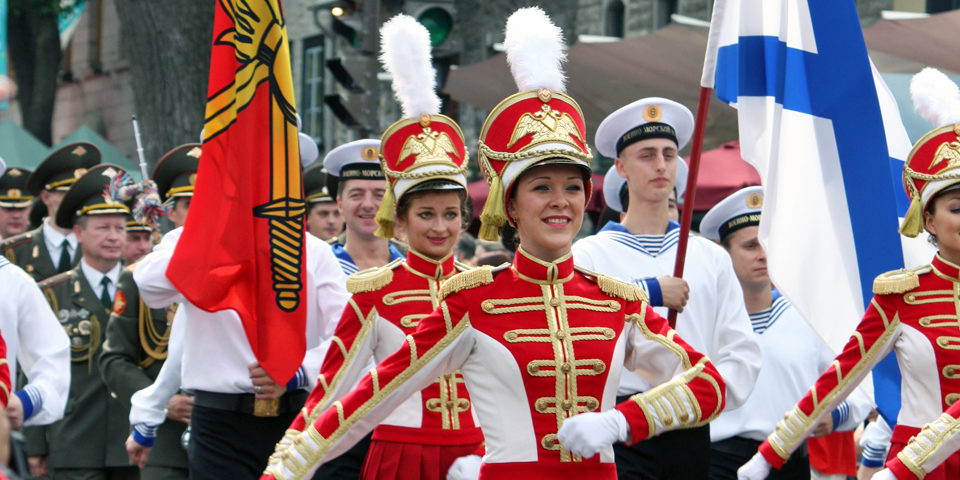 Russian band, Quebec City's 400th Anniversary, Canada