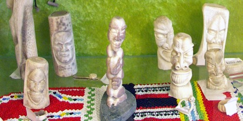 Inuit carvings known as Tupilaks, Greenland