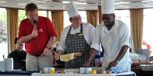 cooking demonstration onboard the Viking Seine