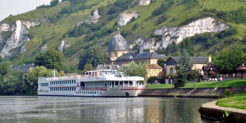 Viking Seine docked in Les Andelys, France