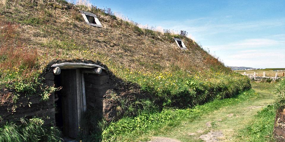 Viking longhouses, L'Anse aux Meadows, Newfoundland