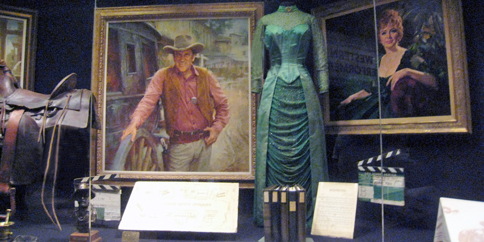 James Arness, Matt Dillon and Miss Kitty, Western Performers Gallery, National Cowboy Hall of Fame
