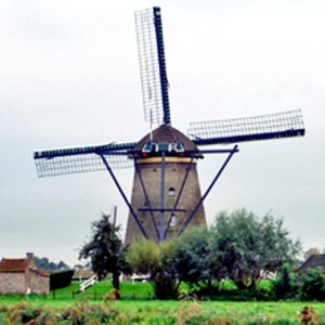 windmill at Kinder Dijk, Kingdom of the Netherlands