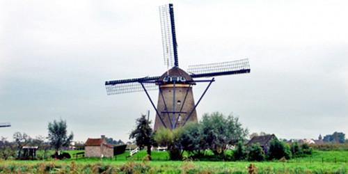 windmill at Kinder Dijk, Kingdom of the Netherlands