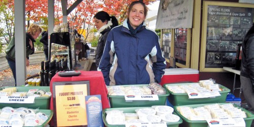 Melissa Rand of Fox Hill Cheese House, Wolfville Farmers' Market, Nova Scotia