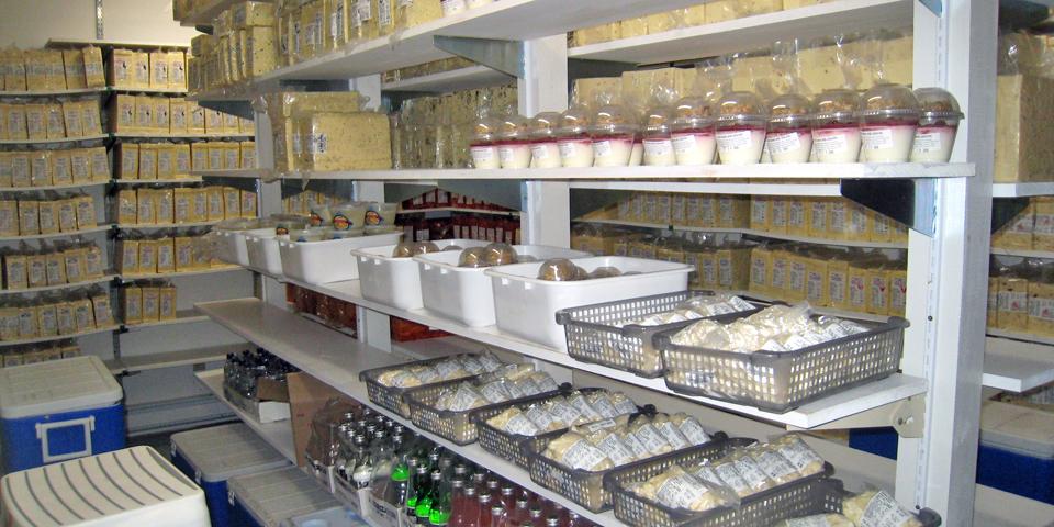 cheese storage area, Foxhill Cheese House, Port Williams, Nova Scotia
