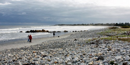 early morning stroll, White Point Beach Resort, Nova Scotia