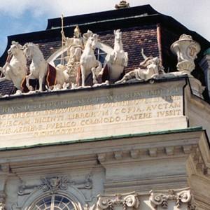 Detail of Austrian National Library, Vienna, Austria