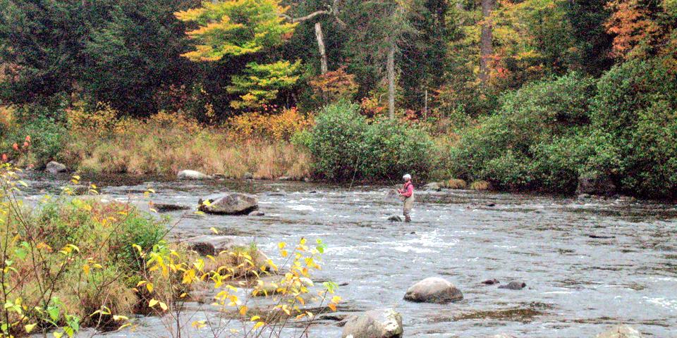 Adirondacks fisherman, New York