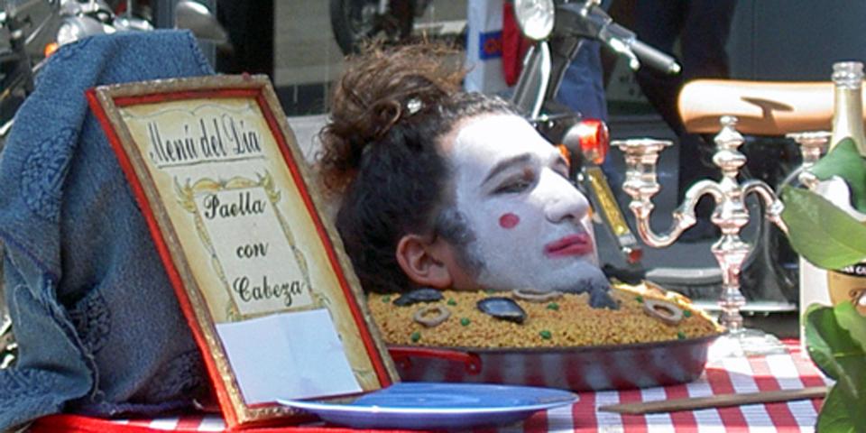 Barcelona's Las Ramblas street mime