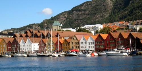 Bryggen wharf area, Bergen, Norway