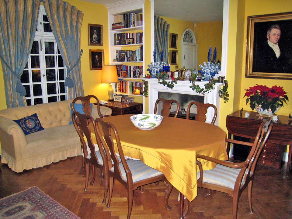 Dining room of our rental home in London, England