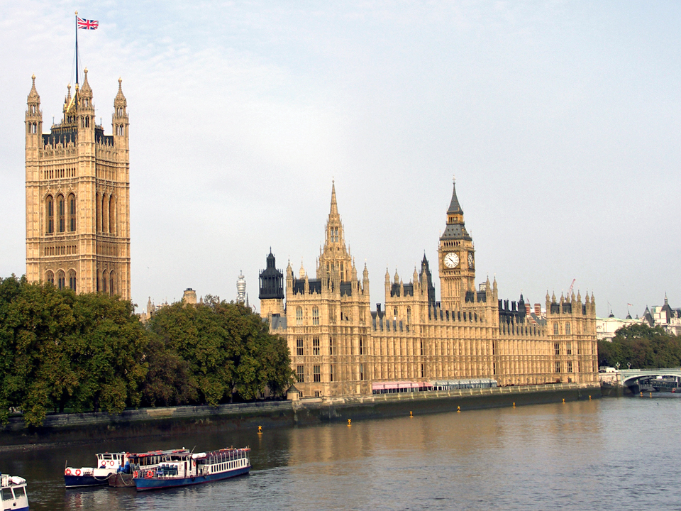 Palace of Westminster, the Houses of Parliament, and Big Ben, London, England