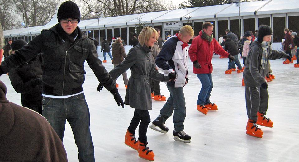 ice skating at Hyde Park, London, England