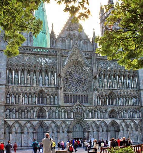 Nidaros Cathedral was built over the burial site of St. Olav, patron saint of Norway