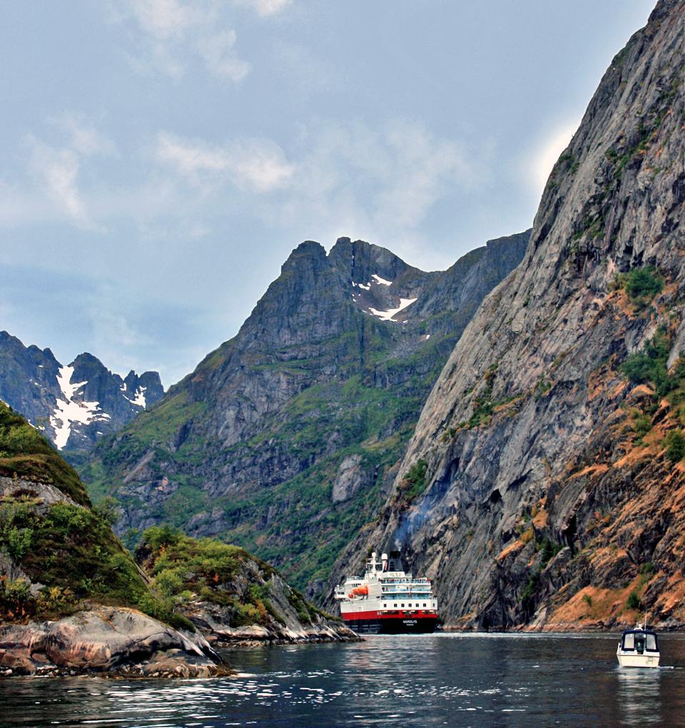 Nordlys in Trollfjord, Norway
