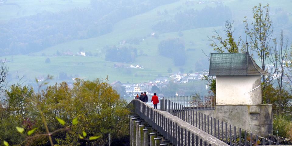 bridge to Hurden, Rapperswil, Switzerland