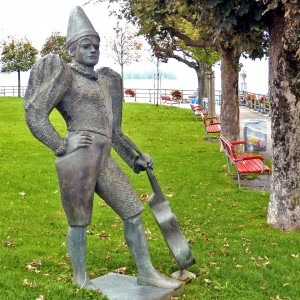 clown statue, Rapperswil, Switzerland