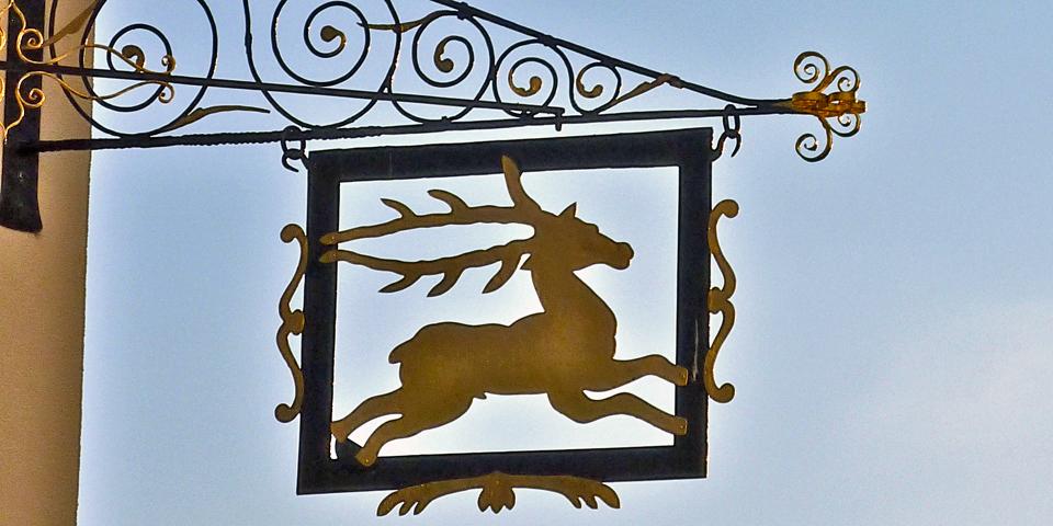 Hotel Hirschen sign, Rapperswil, Switzerland