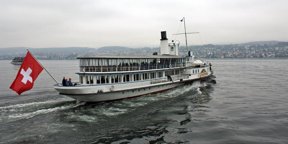 boat on Lake Zurich, Switzerland