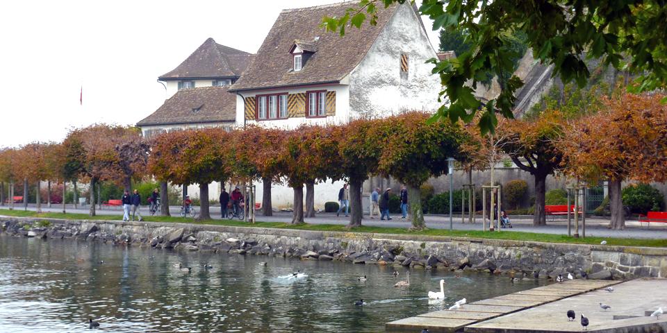 lakefront promenade, Rapperswil, Switzerland
