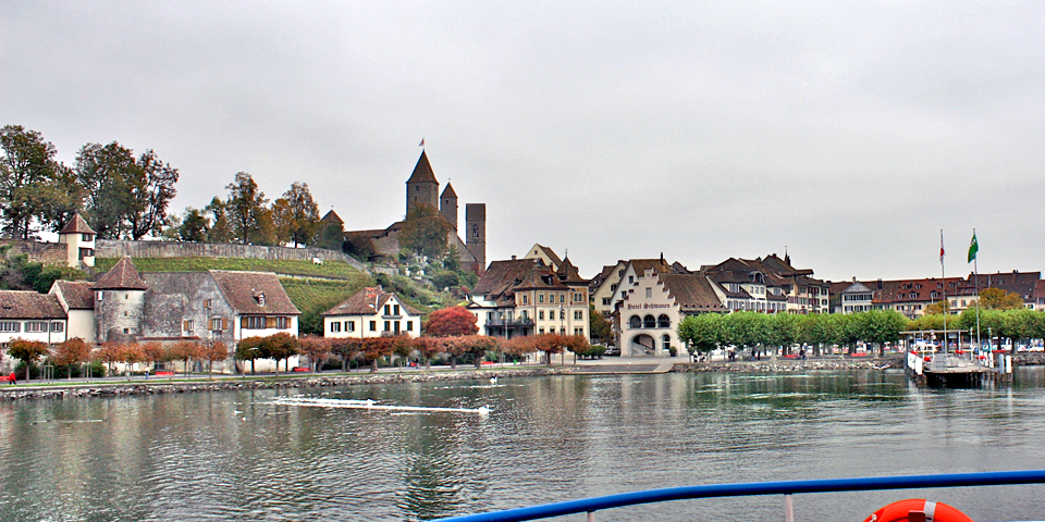 view of Rapperswil, Switzerland from ferry