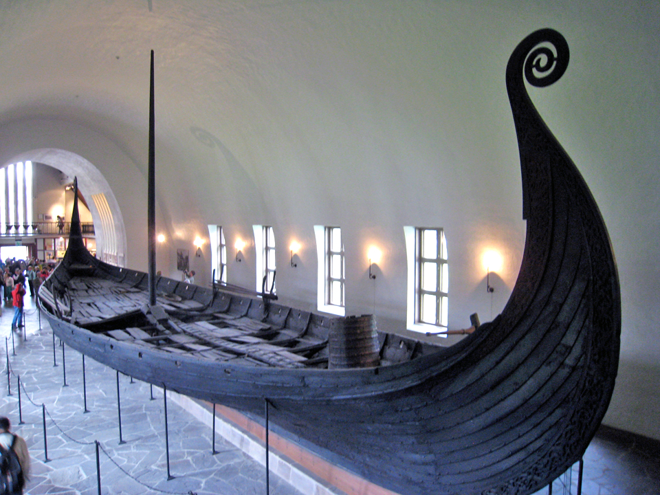 The Oseberg ship and other grave finds are in the Viking Ship Museum, Oslo, Norway.
