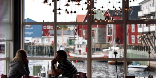 The fishing village Henningsvaer , Norway, is popular with vacationers.