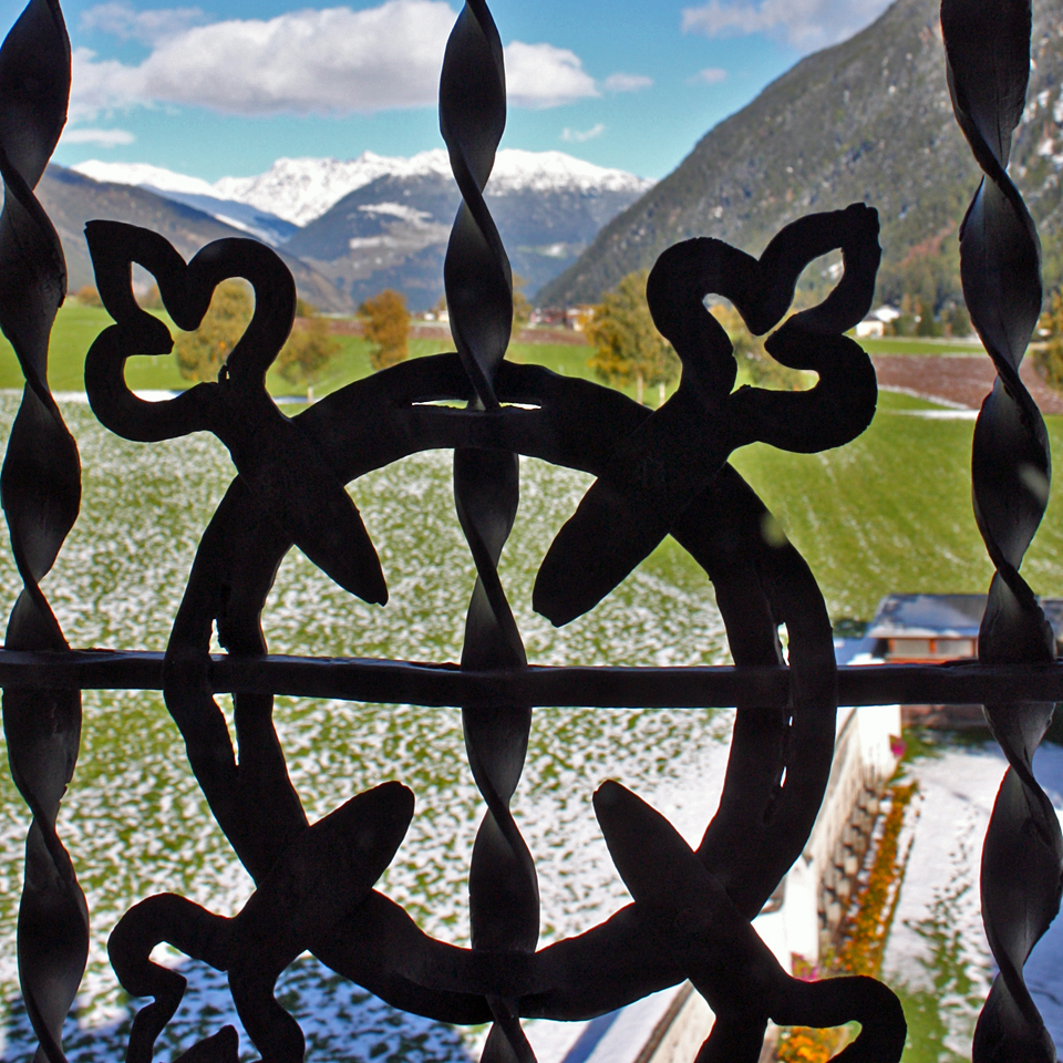 view from the Convent of St. John, Val Müstair, Switzerland