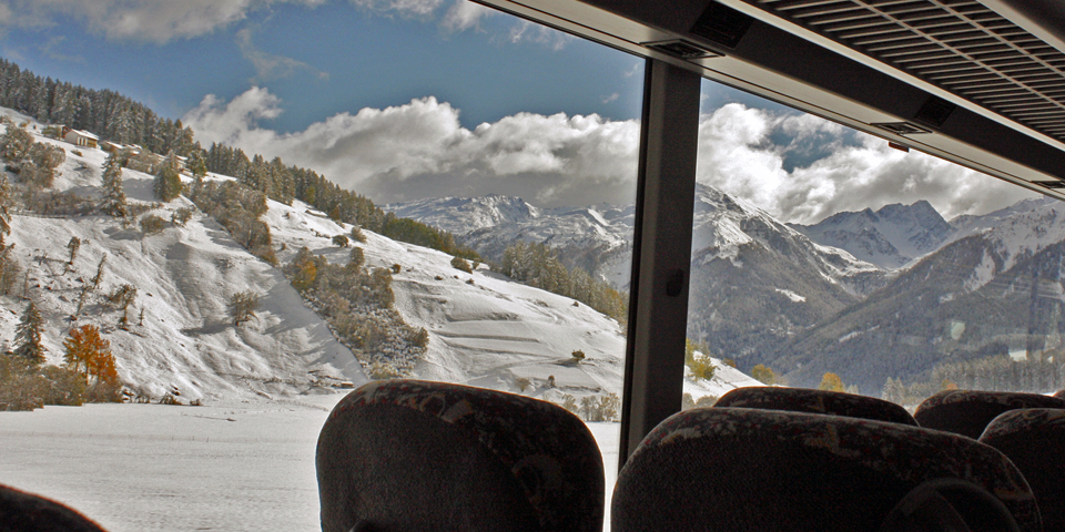 post bus from Zernez to Val Müstair