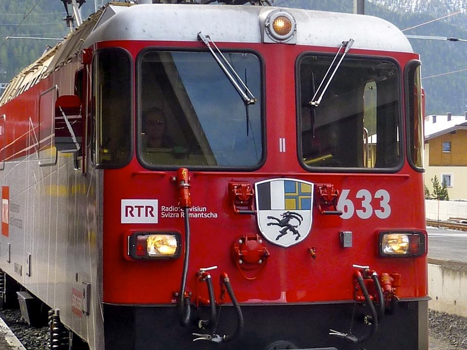 Rhätische Bahn railway, Switzerland