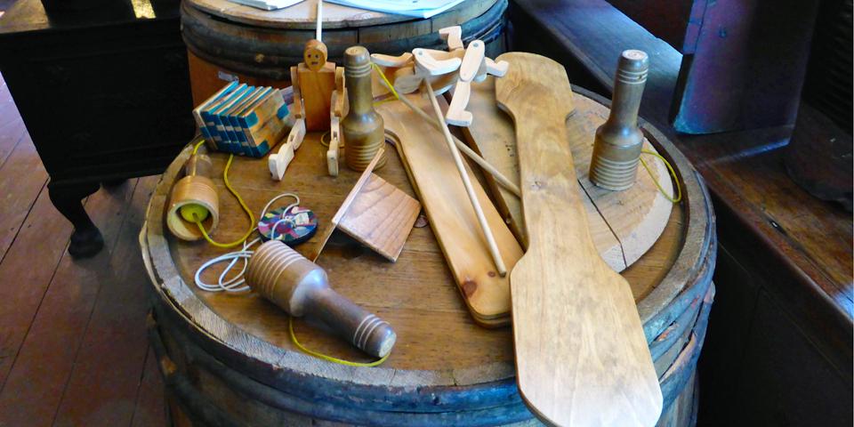 wooden toys, Shelburne County Museum, Nova Scotia