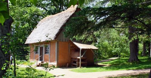 Acadian cottage at Annapolis Royal Historic Gardens, Annapolis Royal, Nova Scotia