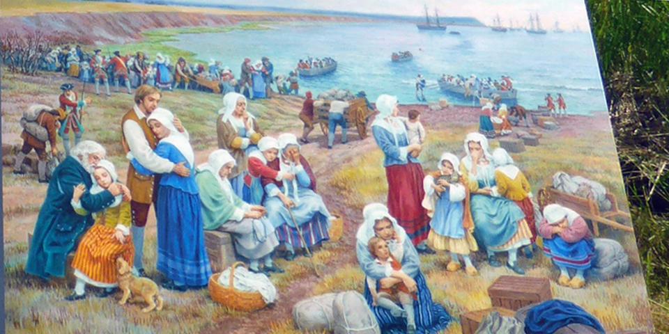 Acadian deportation, Melanson Settlement National Historic Site, Port Royal, Nova Scotia