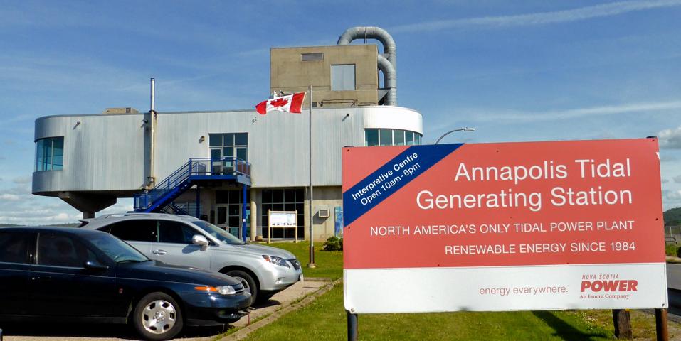 The Annapolis Tidal Generating Station Interpretive Centre, Annapolis Royal, Nova Scotia