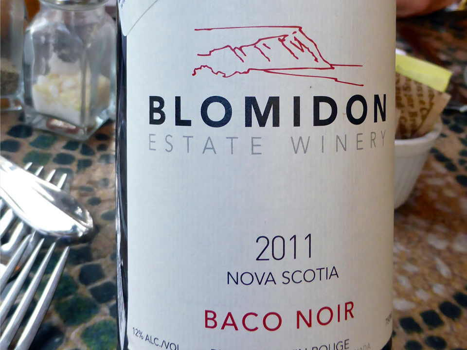 Baco Noir wine from Nova Scotia's Annapolis Valley