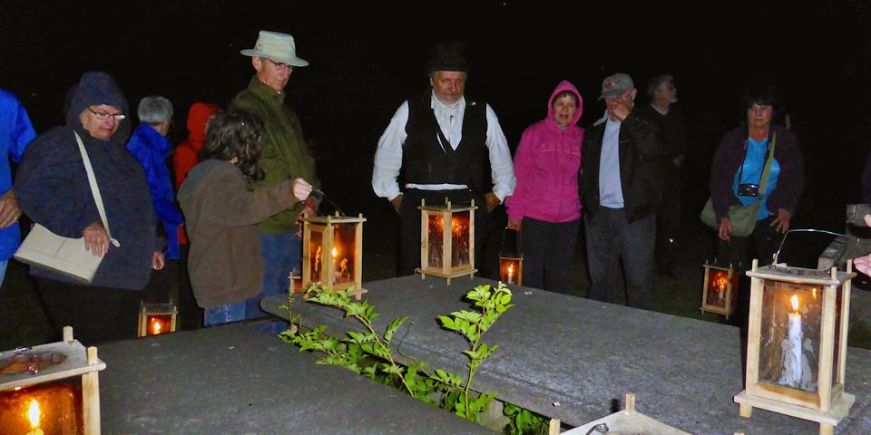 Candlelight graveyard Tour, Annapolis Royal, Nova Scotia