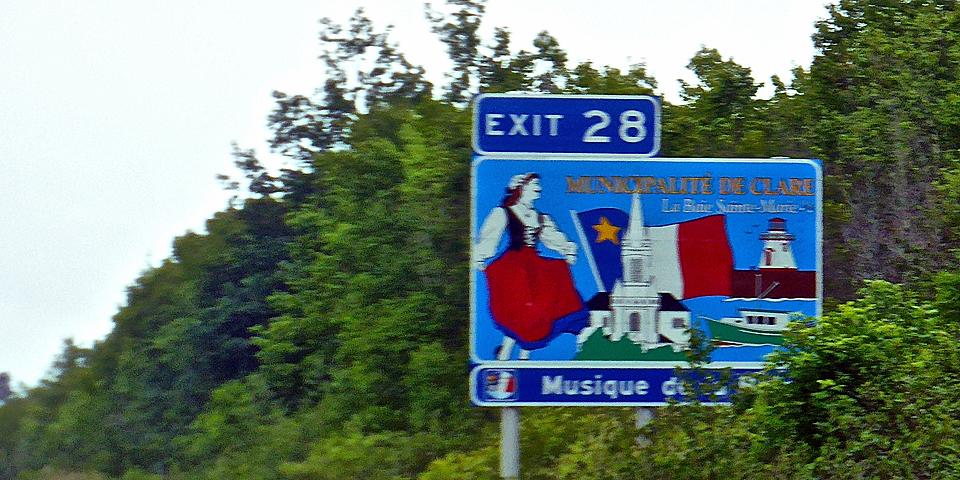 Clare Municipality sign, Nova Scotia