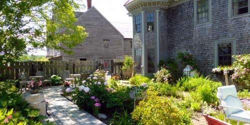 garden of The Cooper's Inn, Shelburne, Nova Scotia