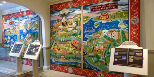 Fort Anne Heritage tapestry, Fort Anne National Historic Site, Annapolis Royal, Nova Scotia