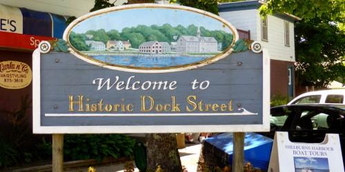 Historic Dock Street sign, Shelburne, Nova Scotia