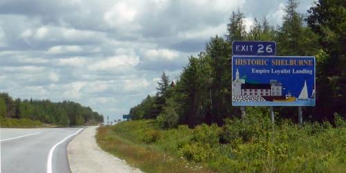 Historic Shelburne sign, Nova Scotia