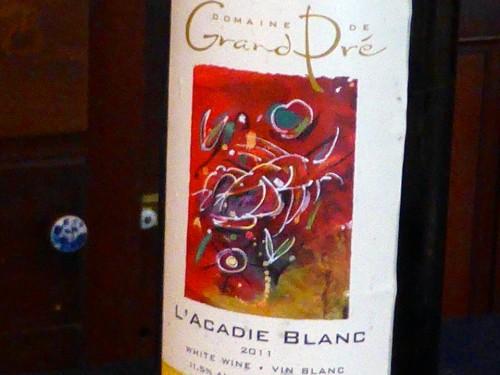 2011 L'Acadie Blanc, Domaine de Grand Pré, Nouvelle Ecosse, Nova Scotia