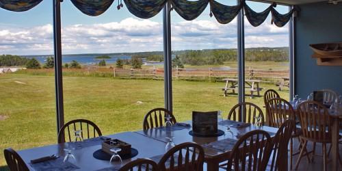 café at Le Village historique acadien de la Nouvelle Ecosse, Nova Scotia