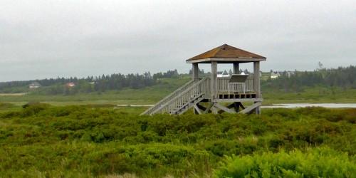 bird viewing platform at the Mavillette Beach Provincial Park, Nova Scotia