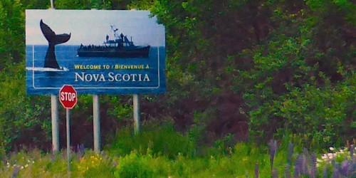 Welcome sign, Nova Scotia