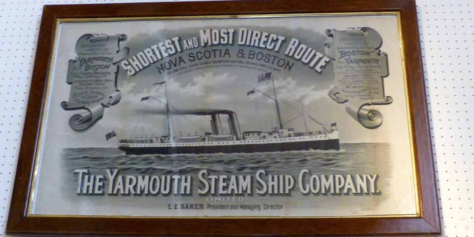 part of the The Yarmouth Steam Ship Company display at the Yarmouth County Museum, Yarmouth, Nova Scotia